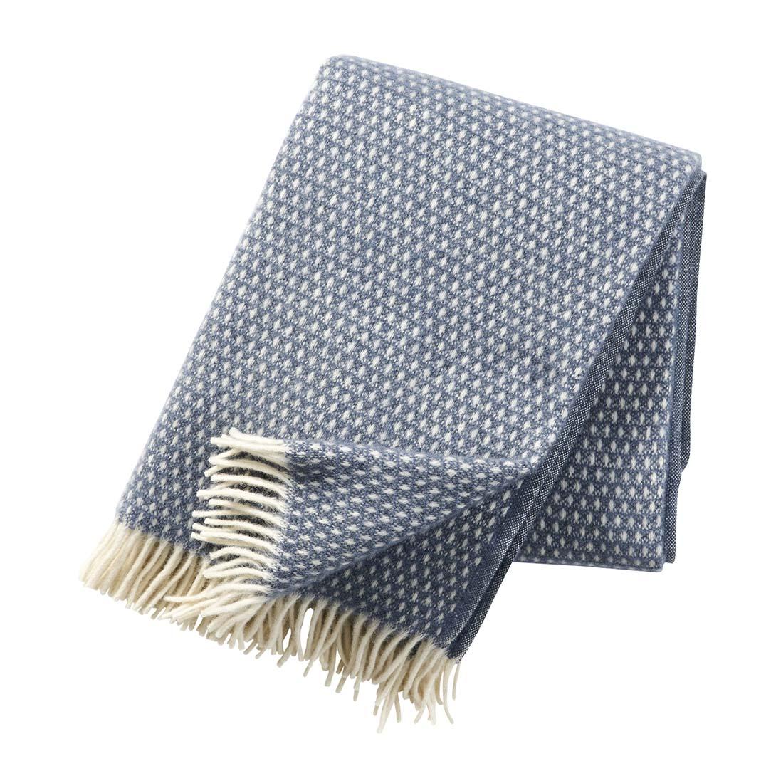blue wool blanket
