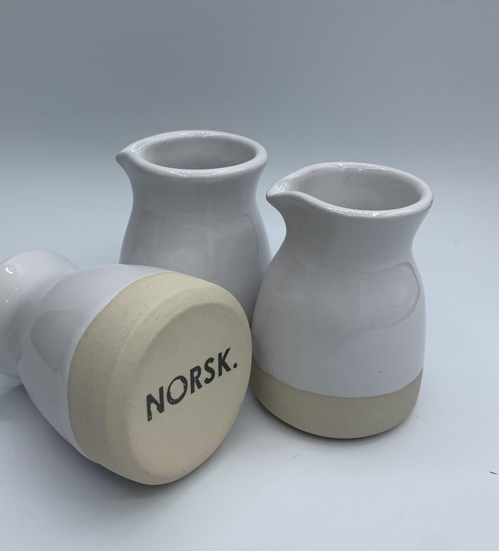 small ceramic white jug