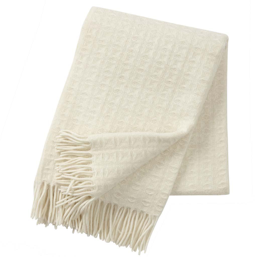 Klippan white wool blanket