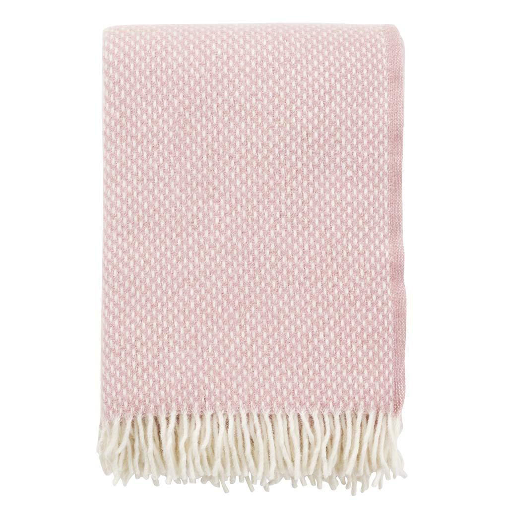 pink wool Blanket, Klippan