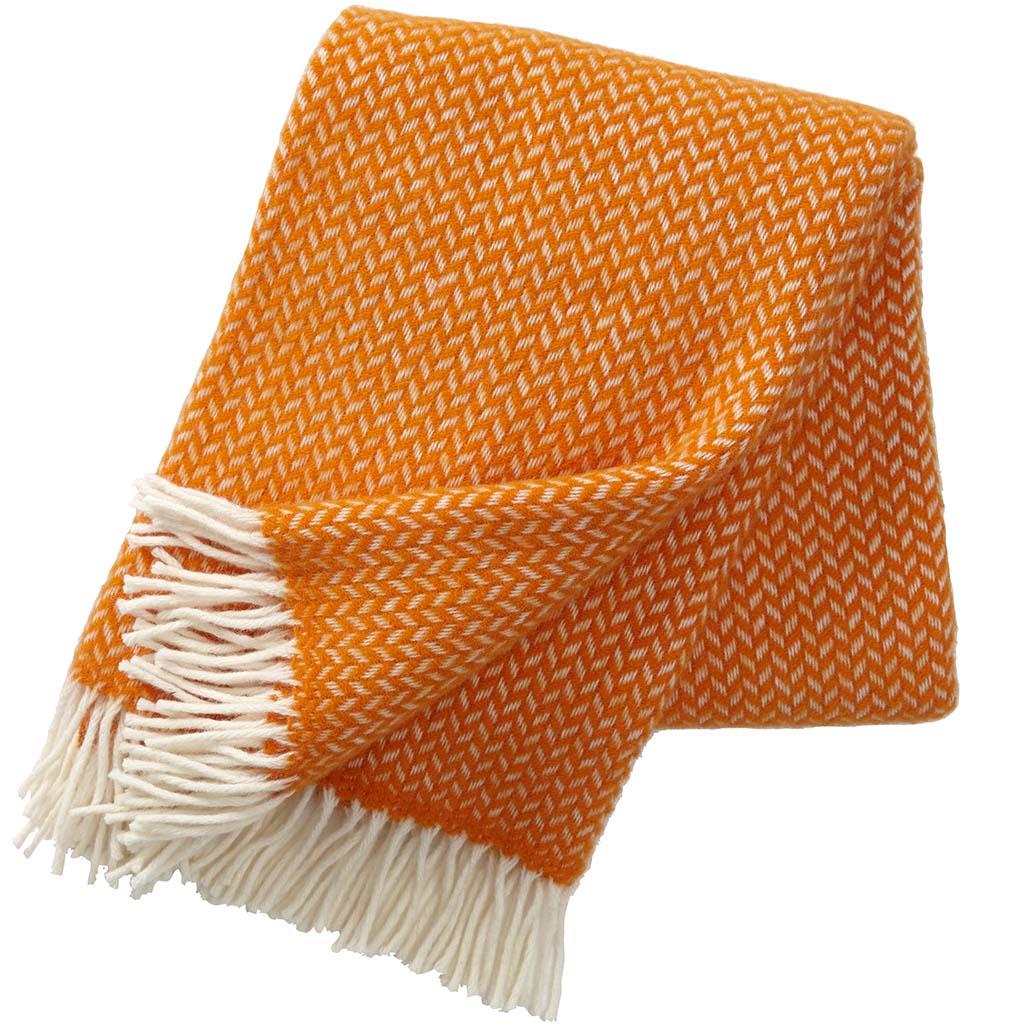 Orange wool Blanket, Klippan