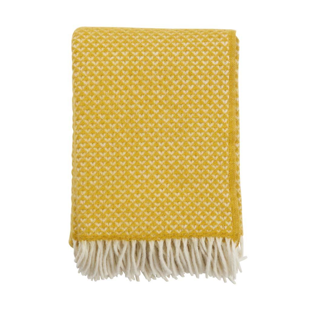 yellow wool Luxor Blanket, Klippan
