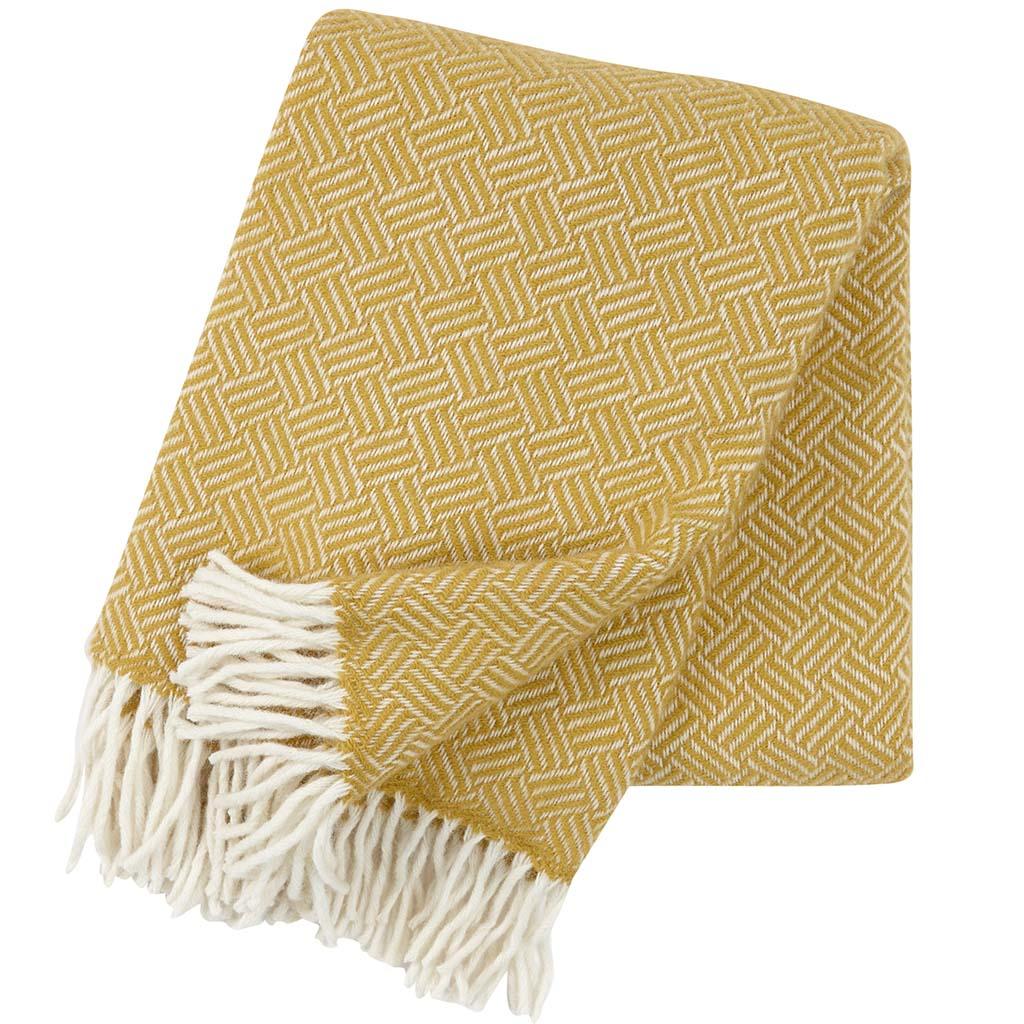yellow wool Blanket, Klippan