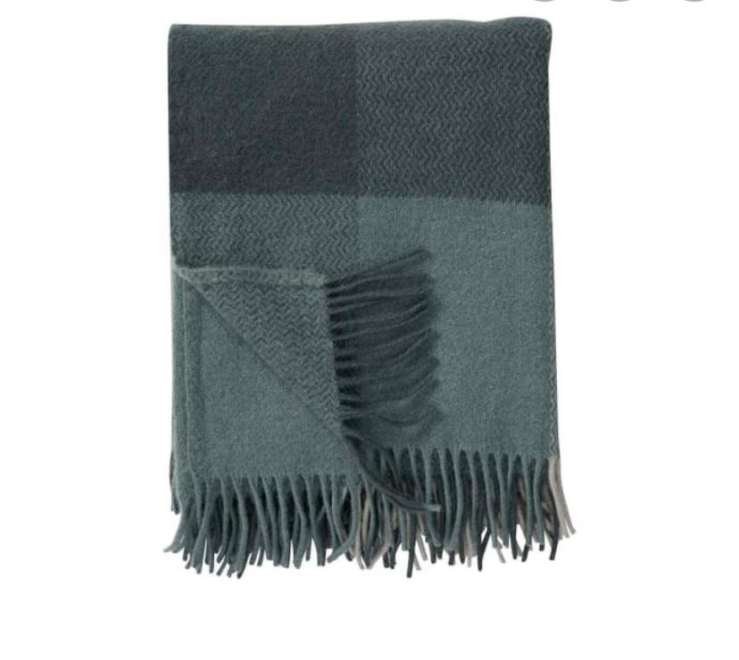 green wool Blanket, Klippan
