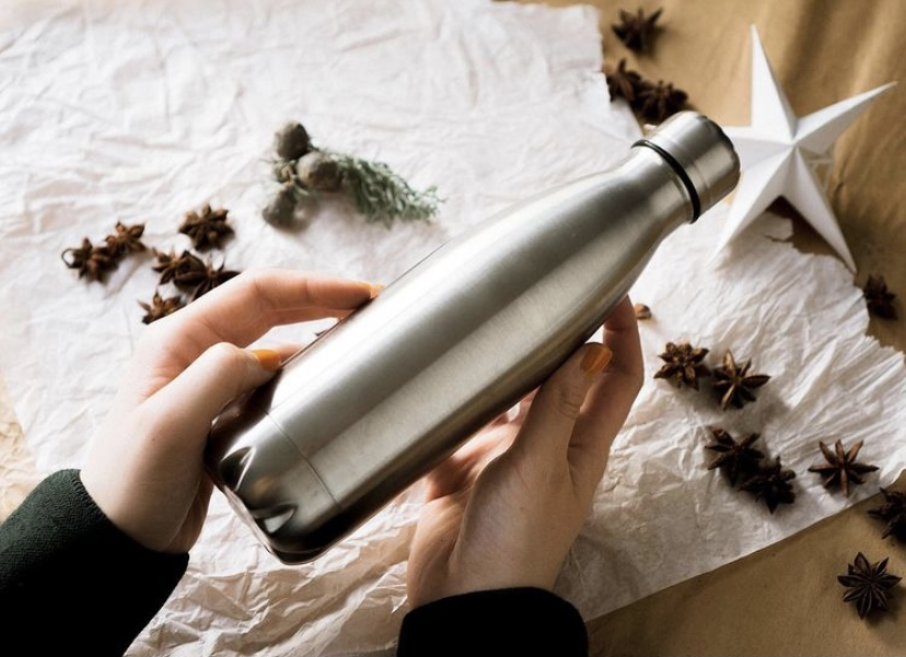 stainless steel water bottle, pulito