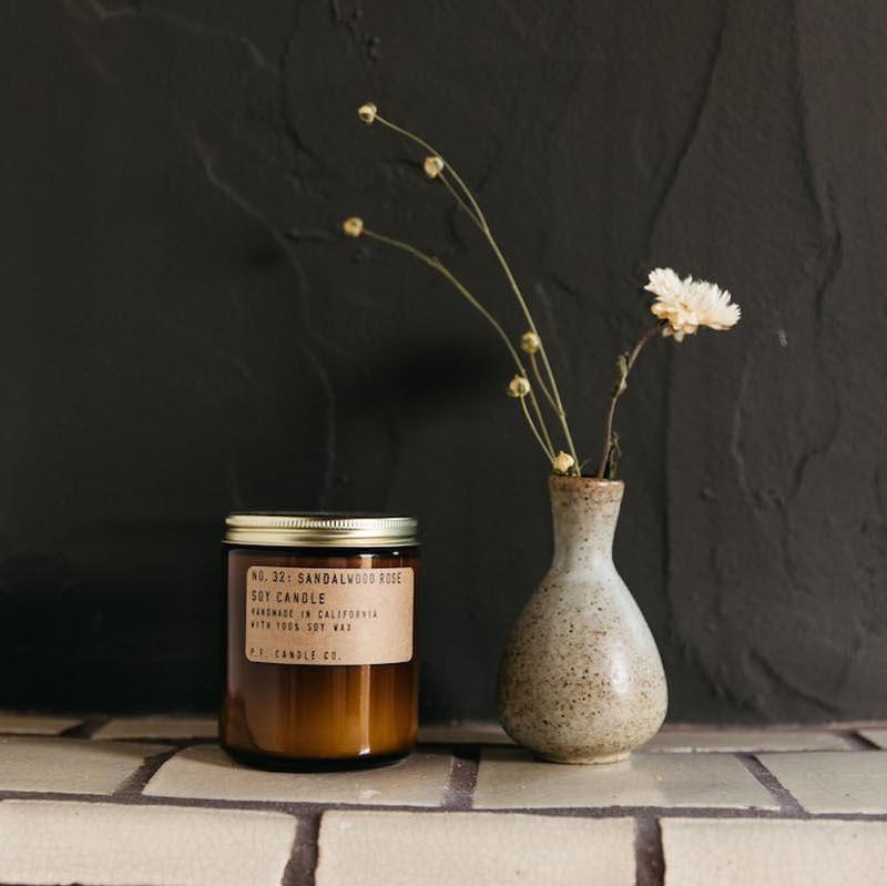 Sandal Rose Candle, P.F Candle Co