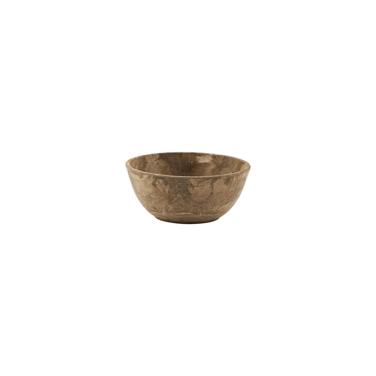 plastic brown serving bowl