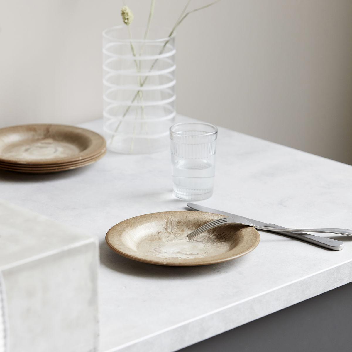 plastic brown plate