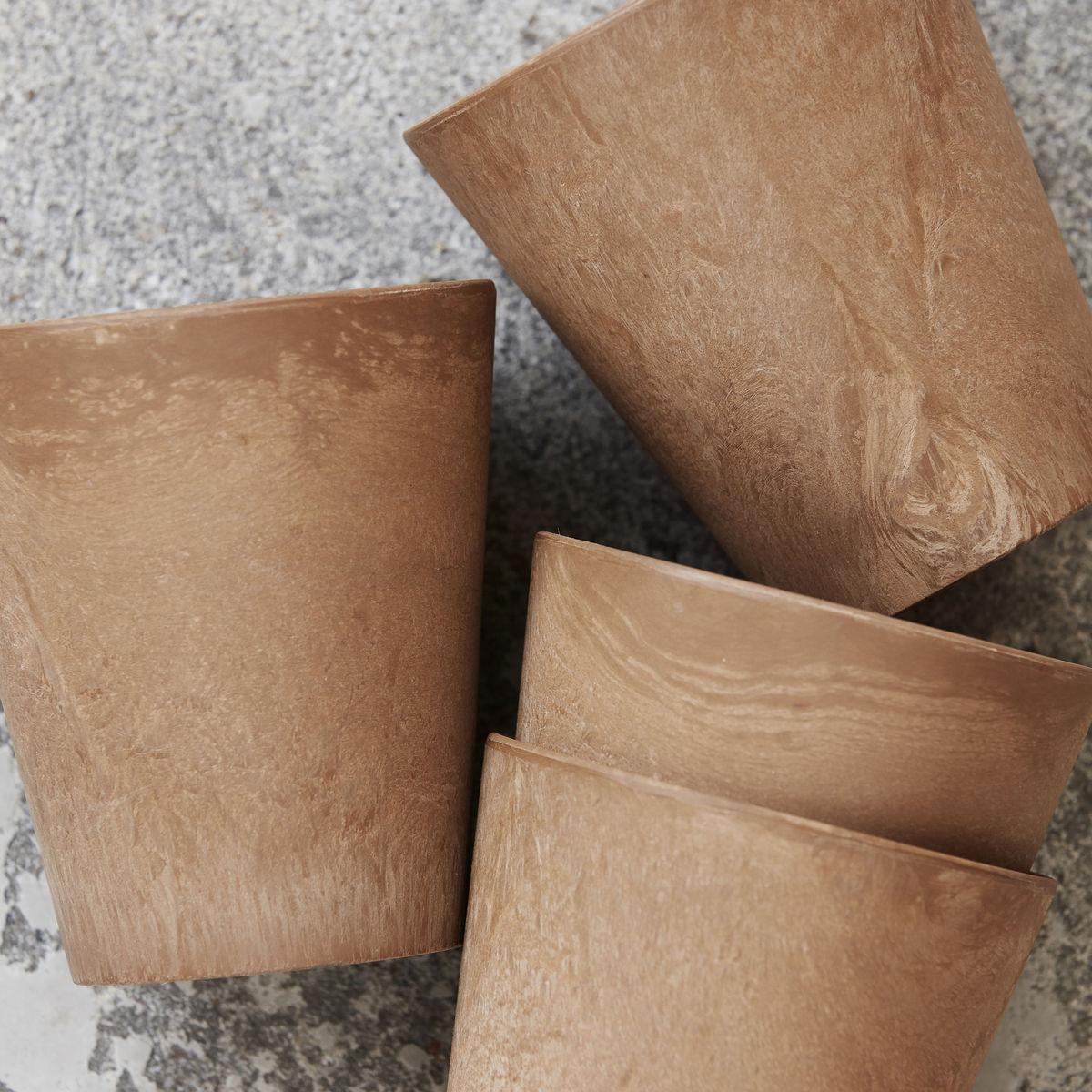 plastic brown mug