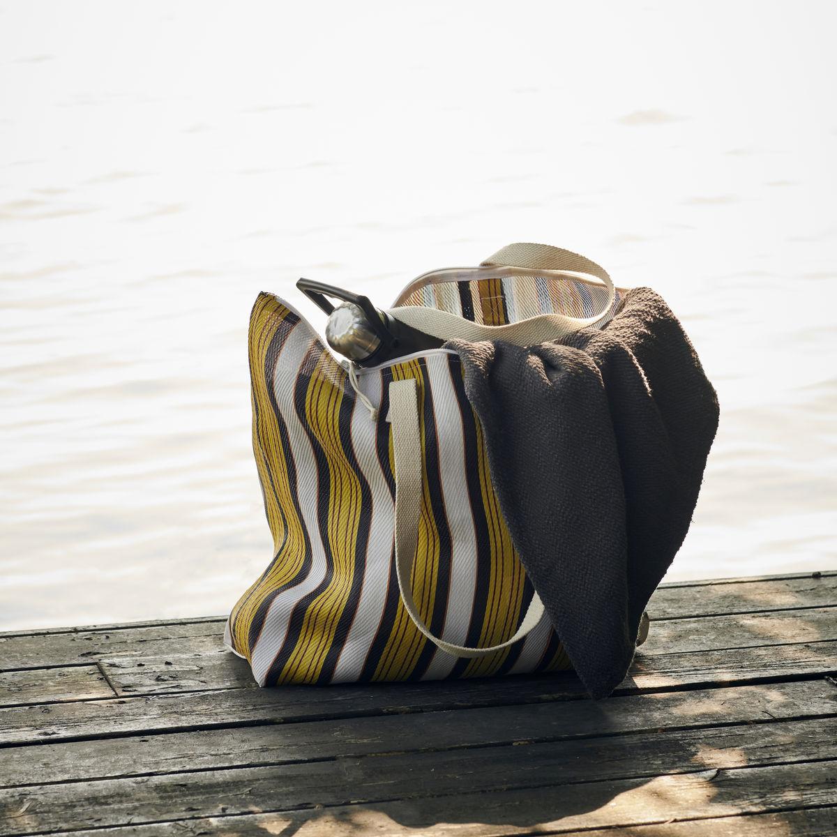 yellow and brown bag