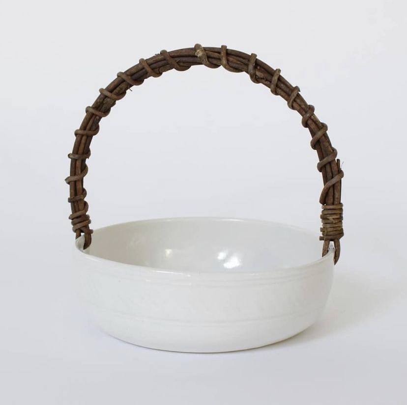 Basket with Akebia Vine Handle