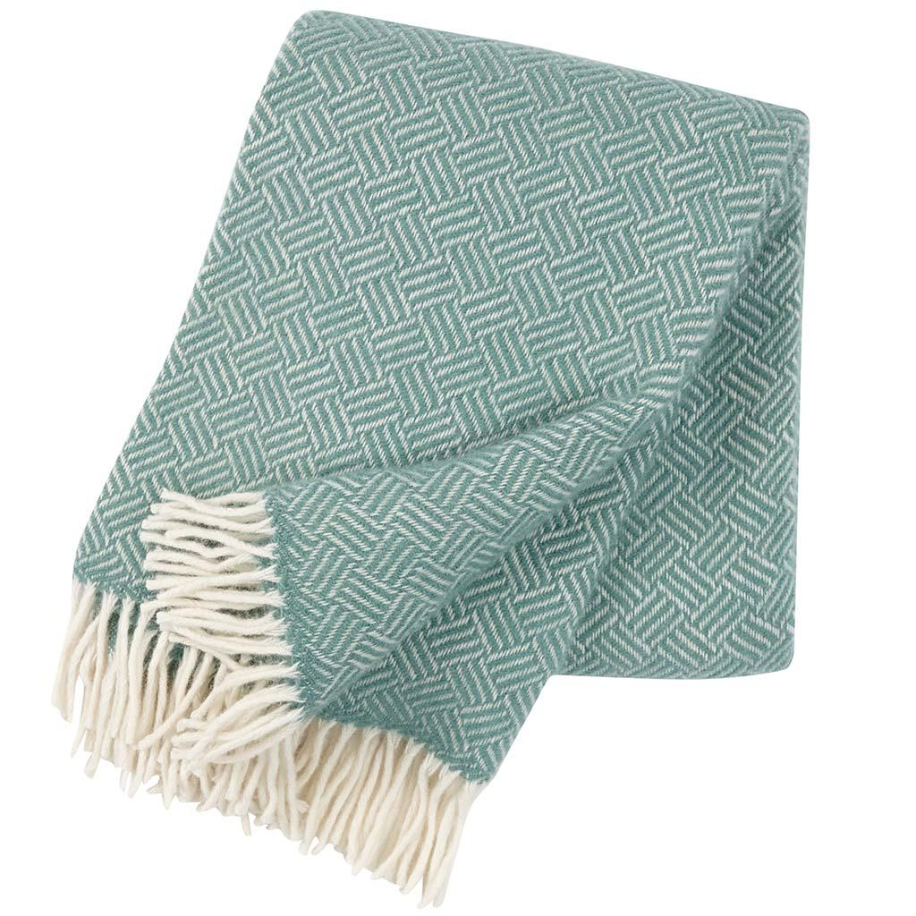 mint green wool Blanket, Klippan
