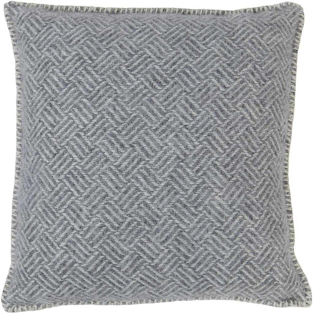 grey wool cushion cover