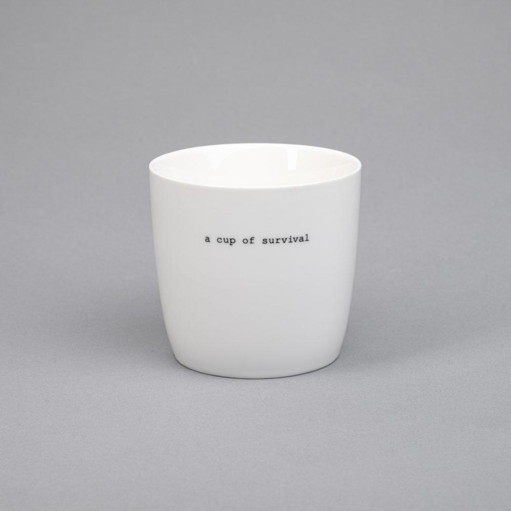 a cup of survival porcelain mug