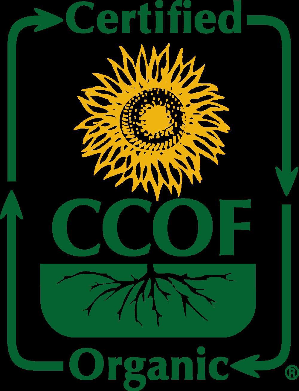 Cerified CCOF Organic