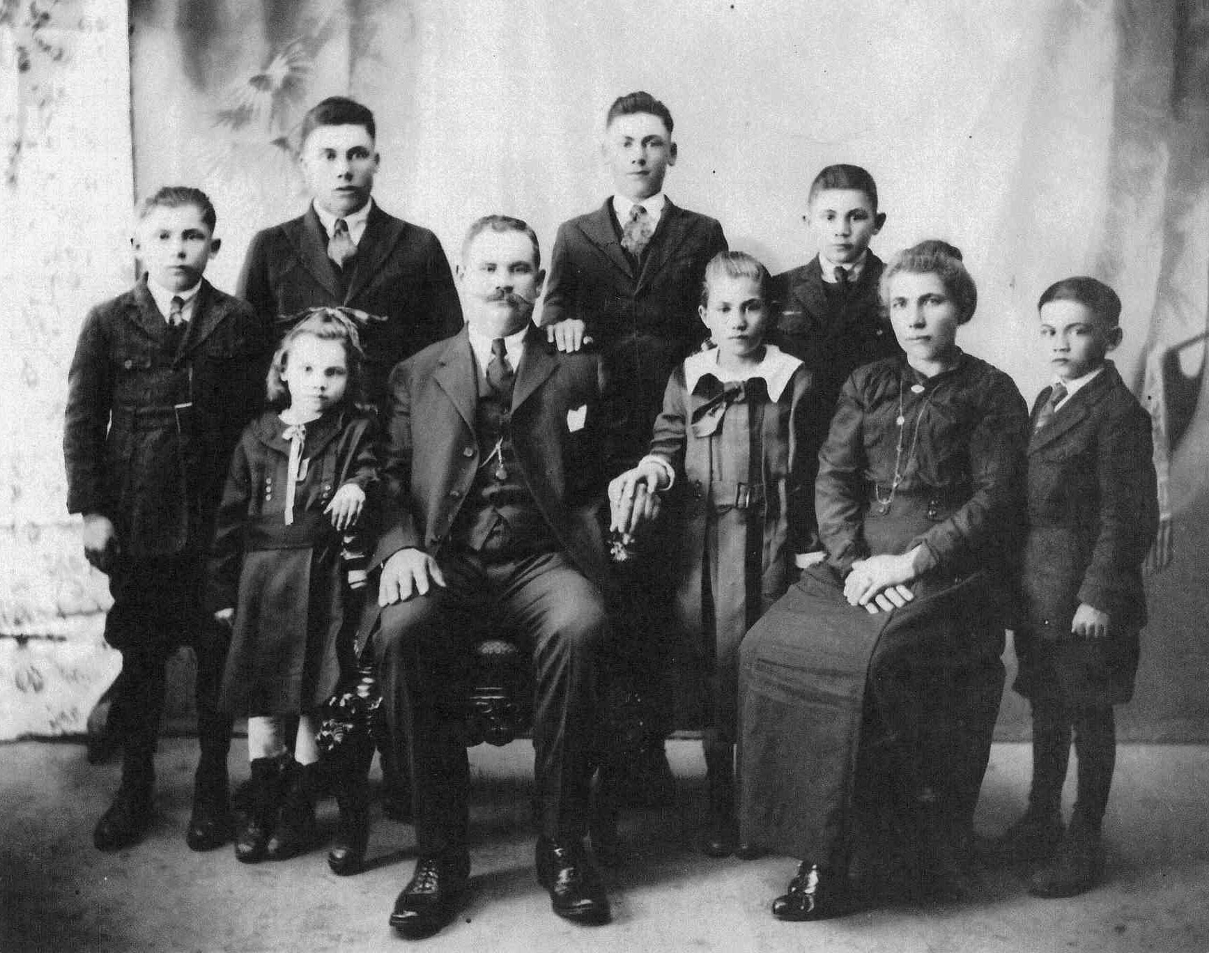 Bronco Wine Company Black and White Historic Photo of Company Founders and their Family