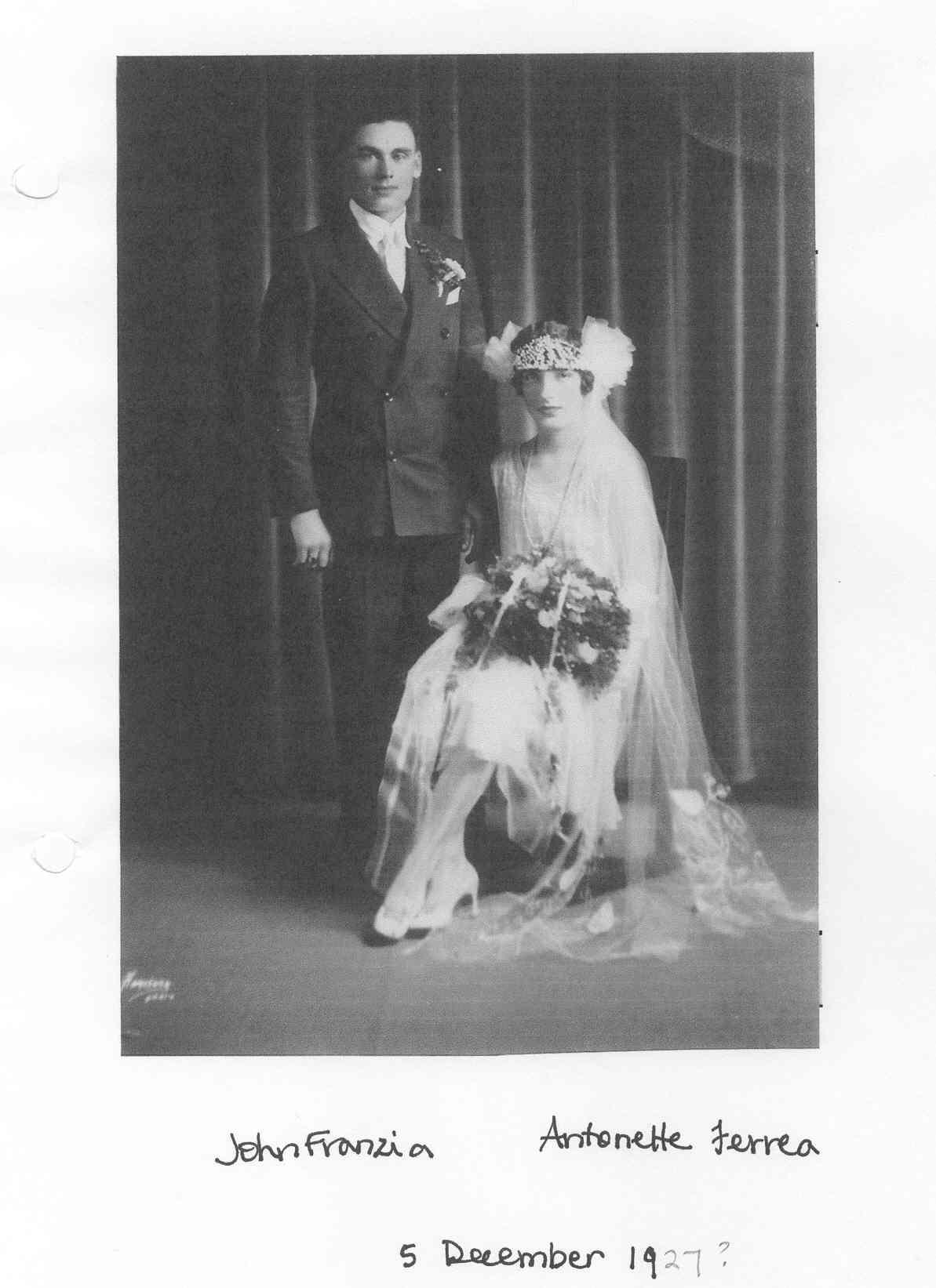 John Franzia, Antonette Ferrea