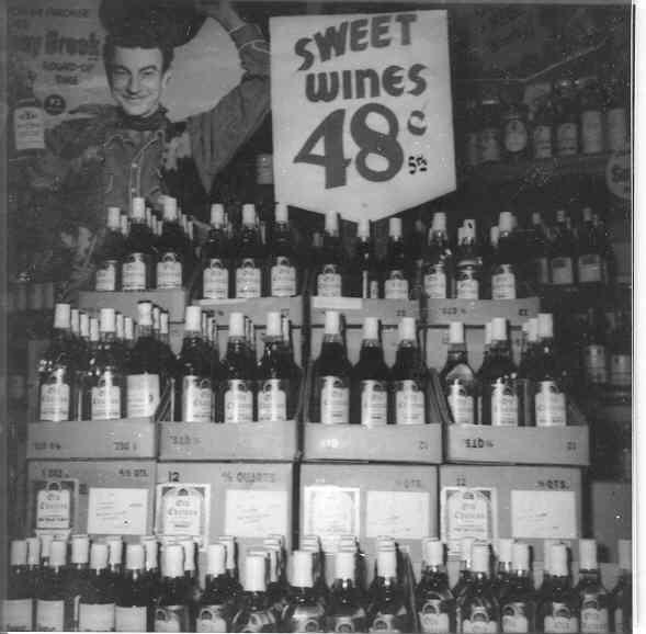 Sweet wines display