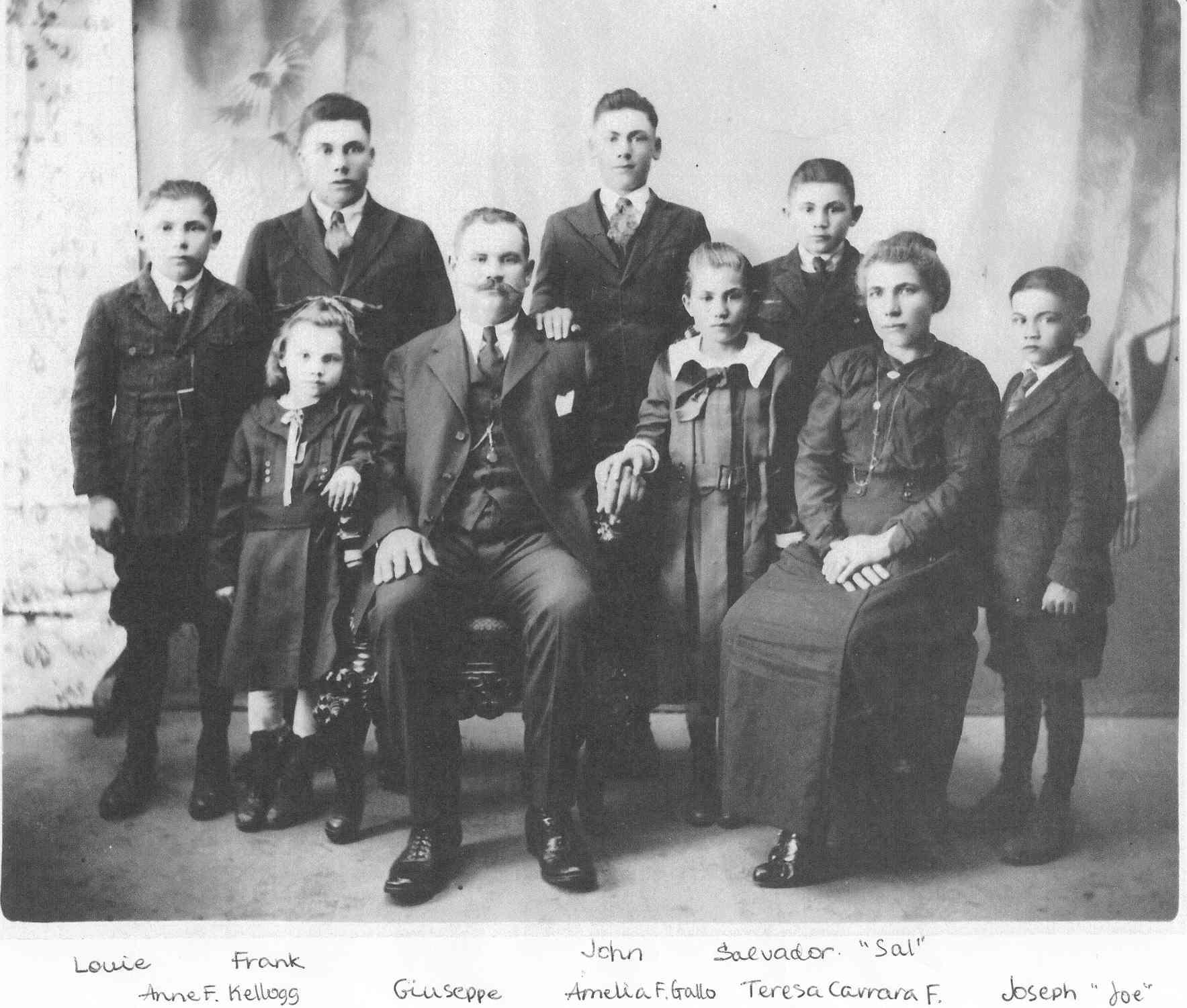 Franzia family photo 1920