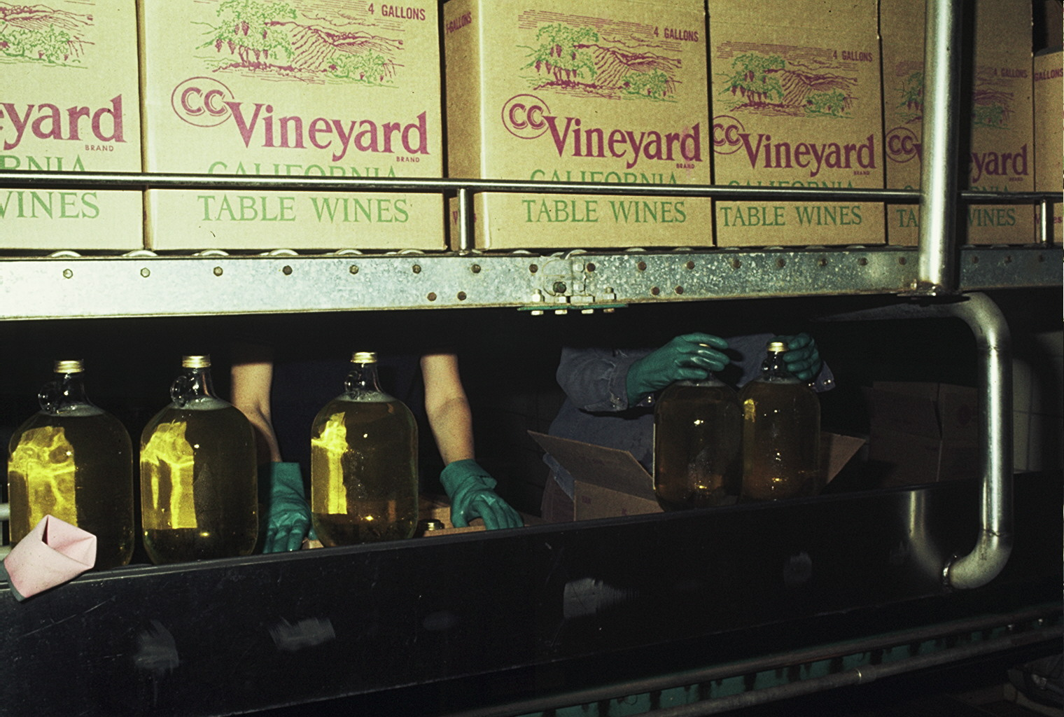 California Table Wines boxes and bottling