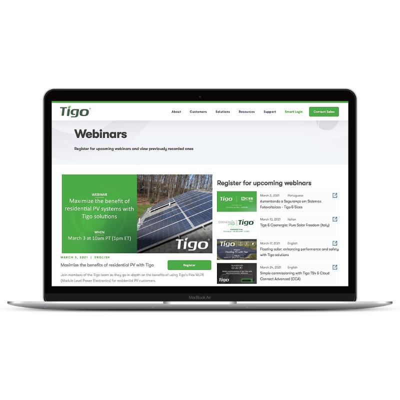 Tigo Webinar Startseite