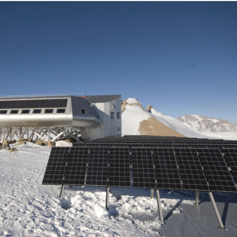 Eine Solarenergieanlage in der Antarktis mit Tigo MLPE