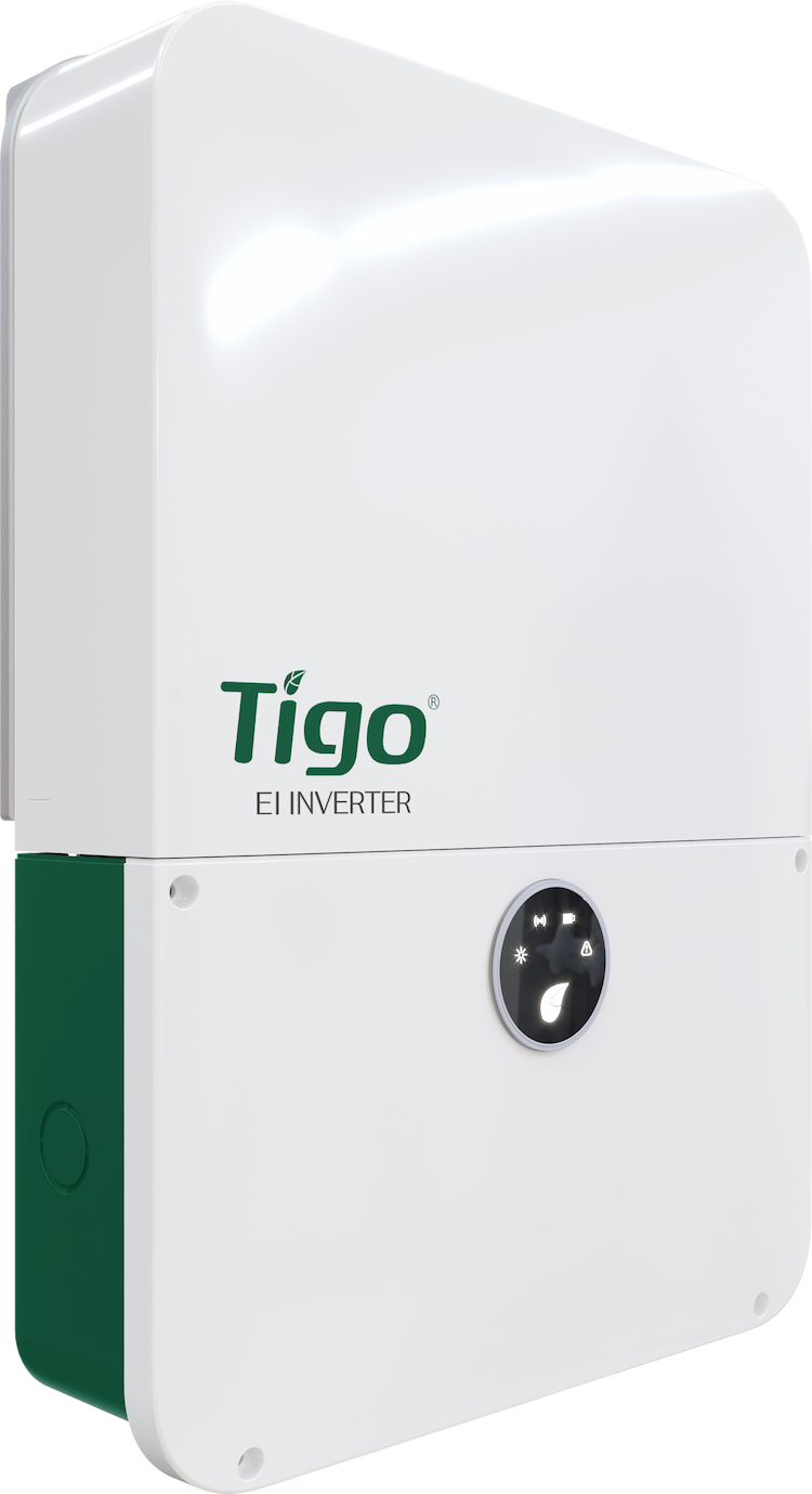 A picture of the Tigo EI Inverter that is a component of the Tigo EI Residential Solution