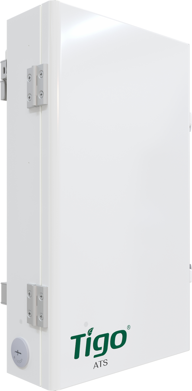 A picture of the Tigo ATS (Automatic Transfer Switch) that is a component of the Tigo EI Residential Solution