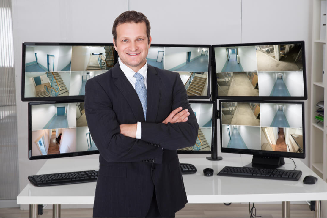 security firm man crossing arms