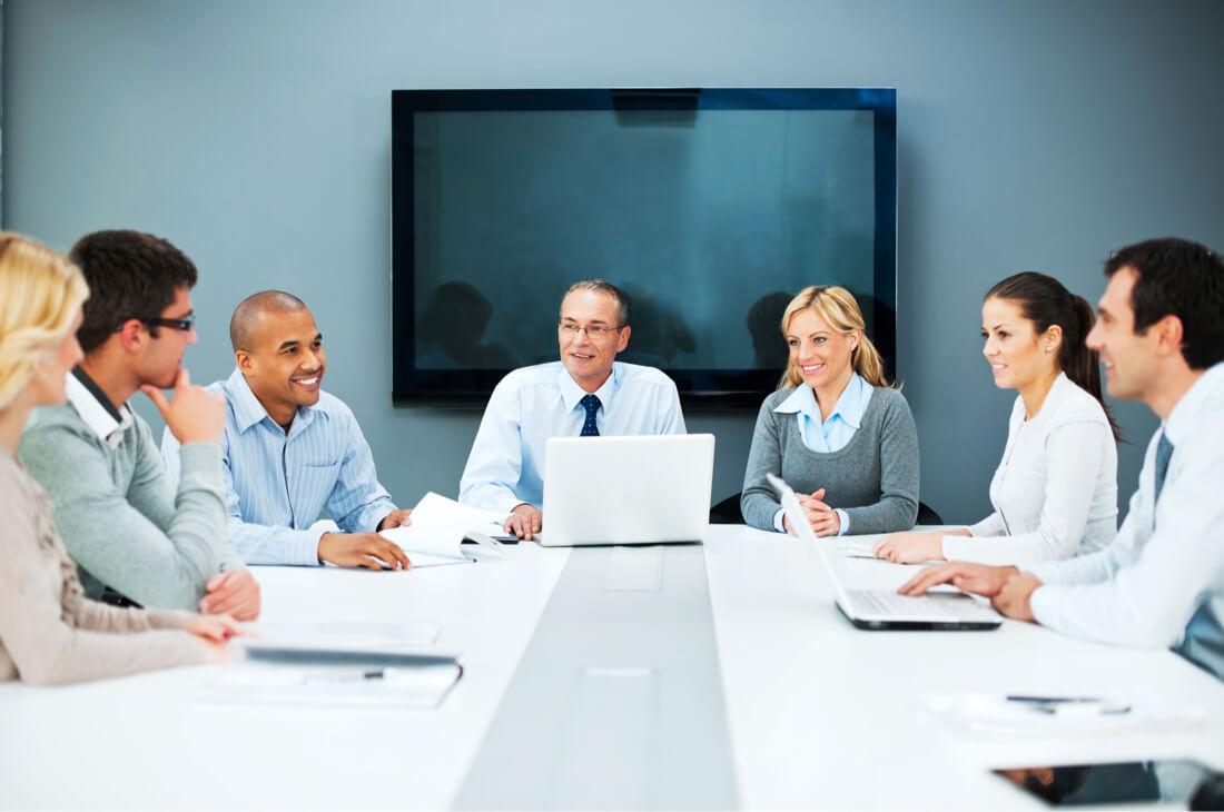 business meeting payroll