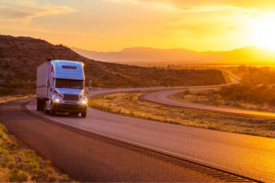 Truck transportation on road