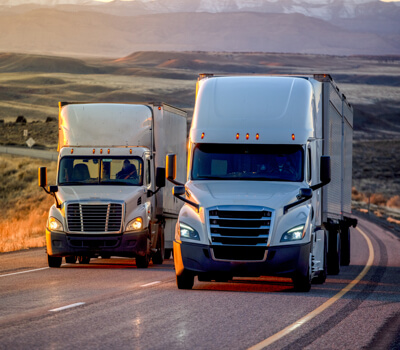 Truck male working