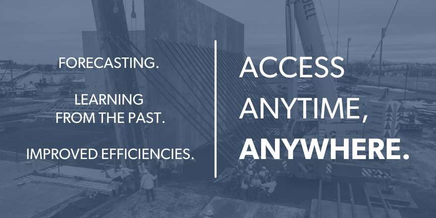 Forecasting. Learning from the past. Improved efficiencies. Access anytime, anywhere.