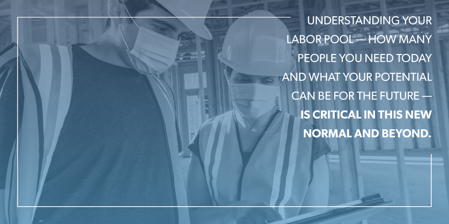 Understanding your labor poll-- How many people you need today and what our potential can be for the future-- Is critical in this new normal and beyond.