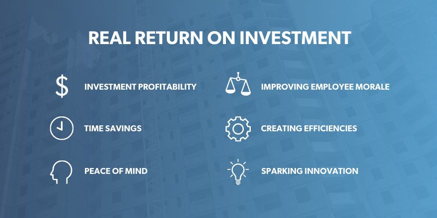 List of real returns on investment from a workforce management platform.