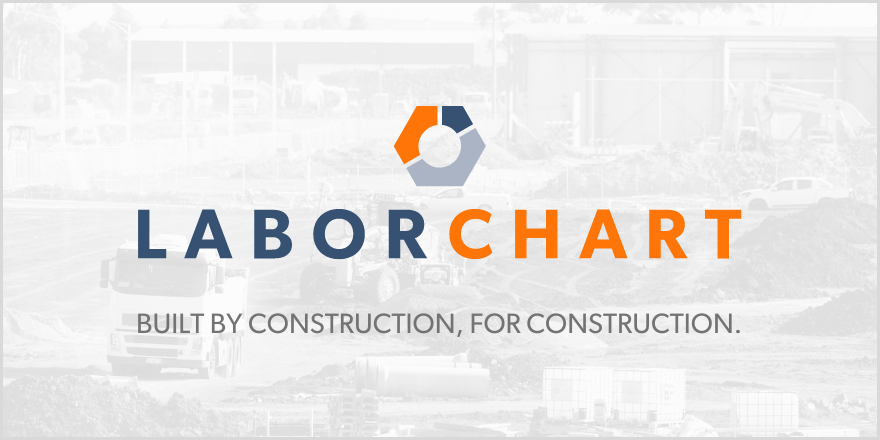 graphic image stating LaborChart, built by construction, for construction.