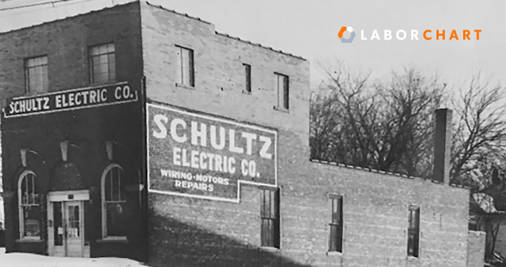 Schultz Electric contractor first ever building.