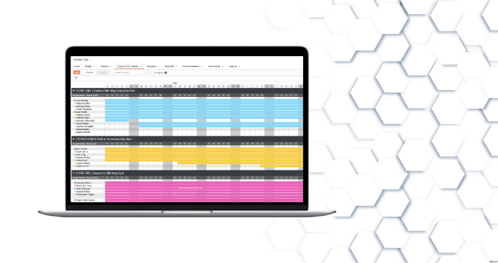 An image of LaborChart, the construction workforce management platform in action.