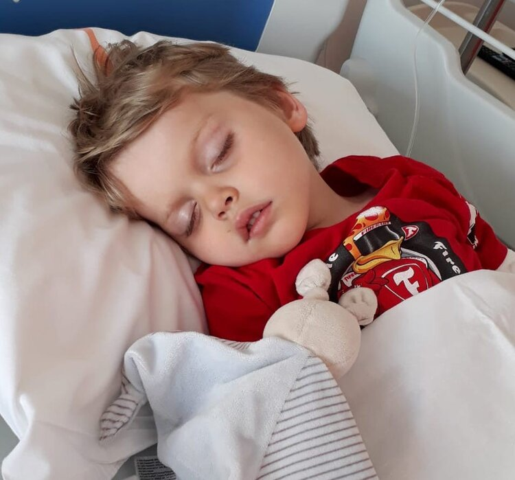 Ty recovering from Status in the hospital