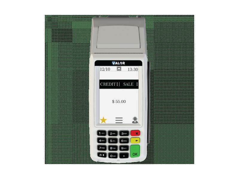 Valor V100 payment processor.