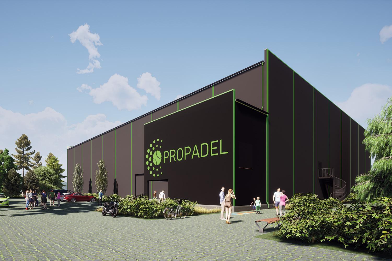 Propadelin halliin rakentuu 10 padelpelikenttää ja 11m sisäpelikorkeutta