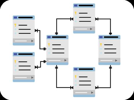 Рабочая база данных на основе анализа интерфейса сервиса