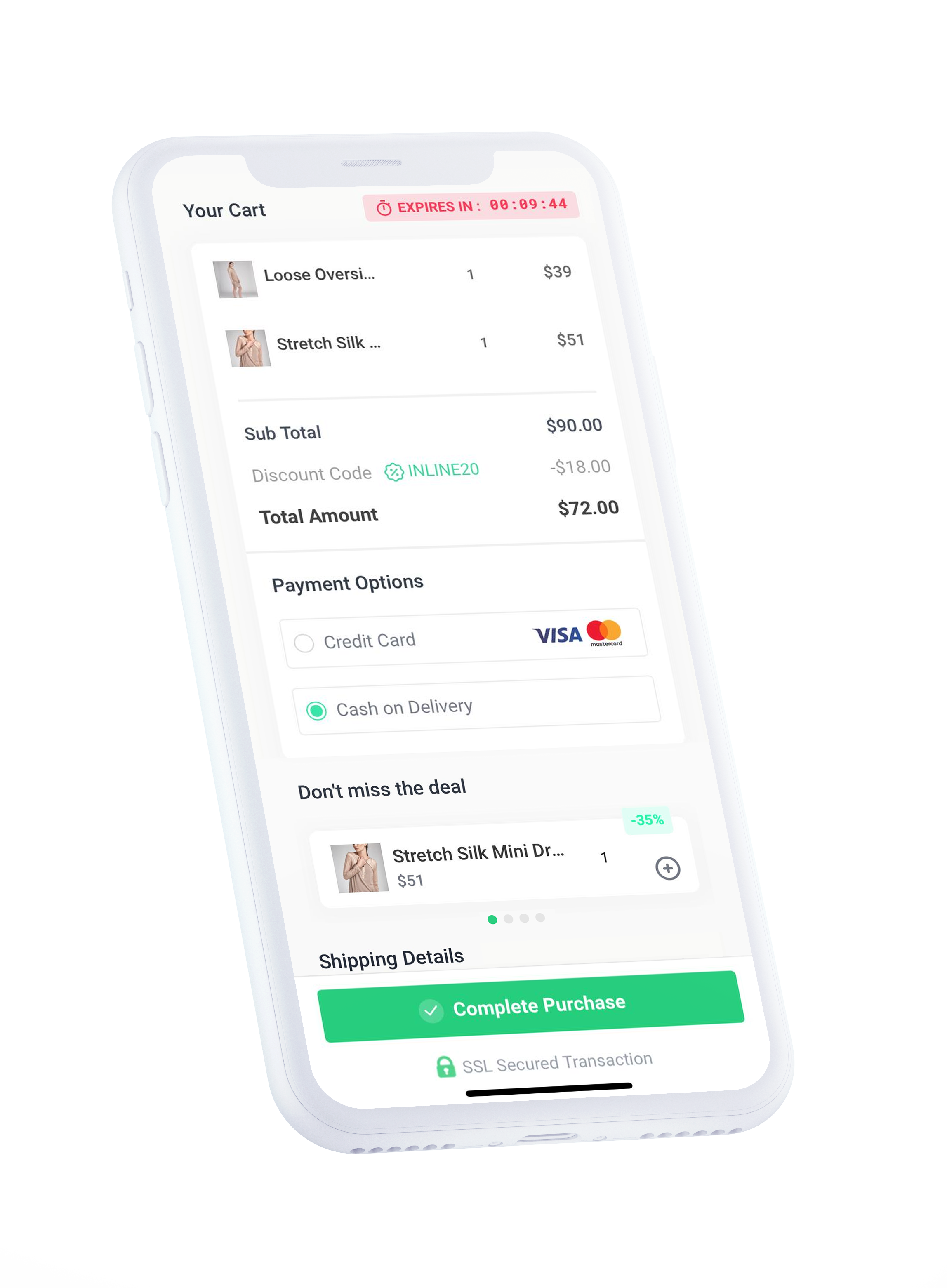 Customer oriented and mobile first checkout that boost sales.