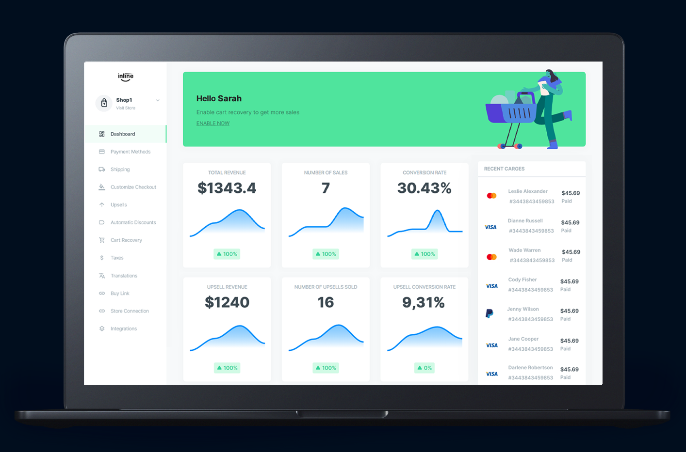 Inline Checkout - custom checkout for Shopify and WooCommerce