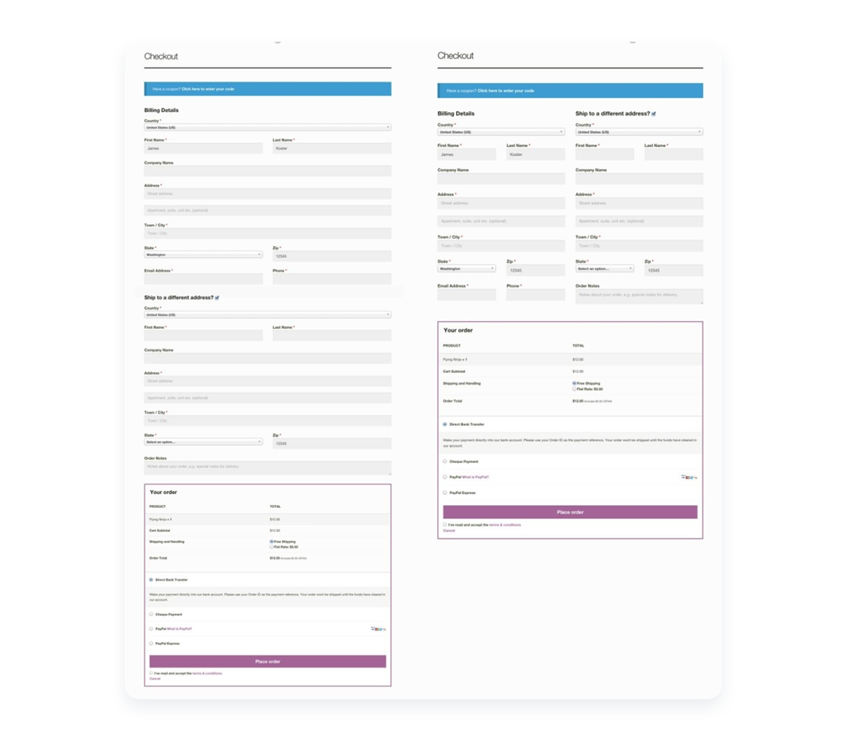 standard-custom-woocommerce-checkout-page