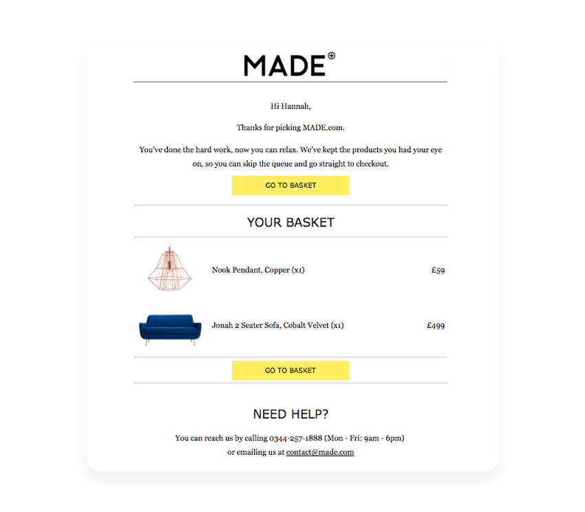 cart-abandonment-email-example-personalization