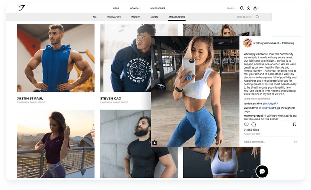 Fastest growing ecommerce startups, Gymshark Influencer Community