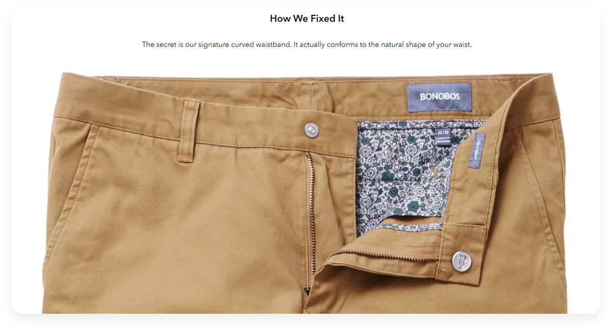 Most innovative ecommerce startups, Bonobos Pants that fit