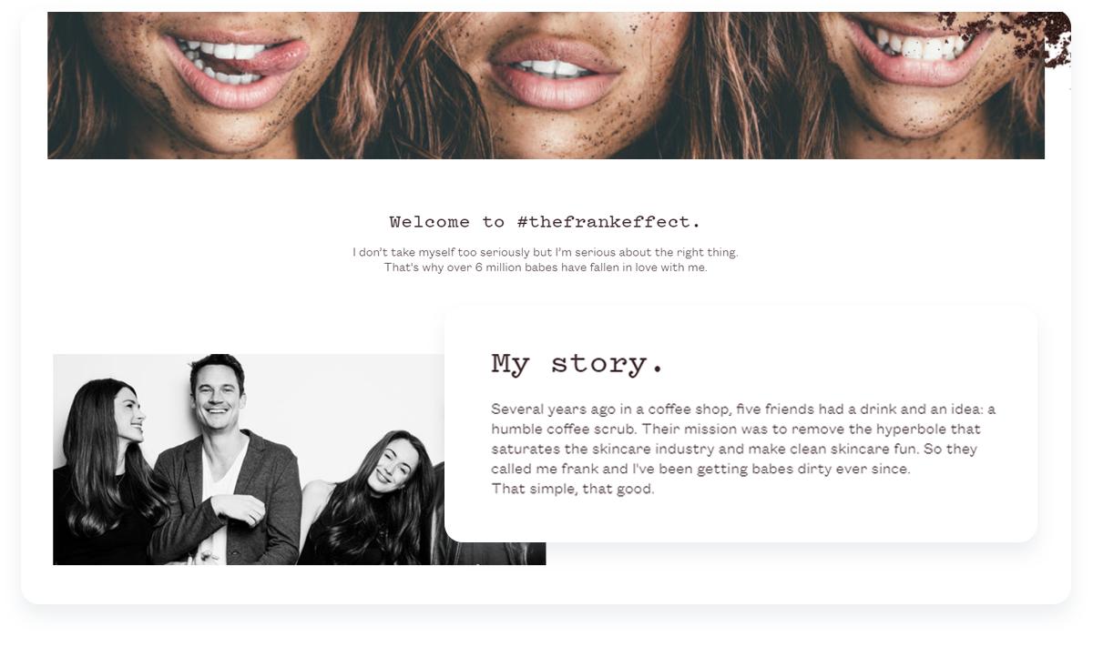 Top innovative ecommerce startups, Frank Body Story About us
