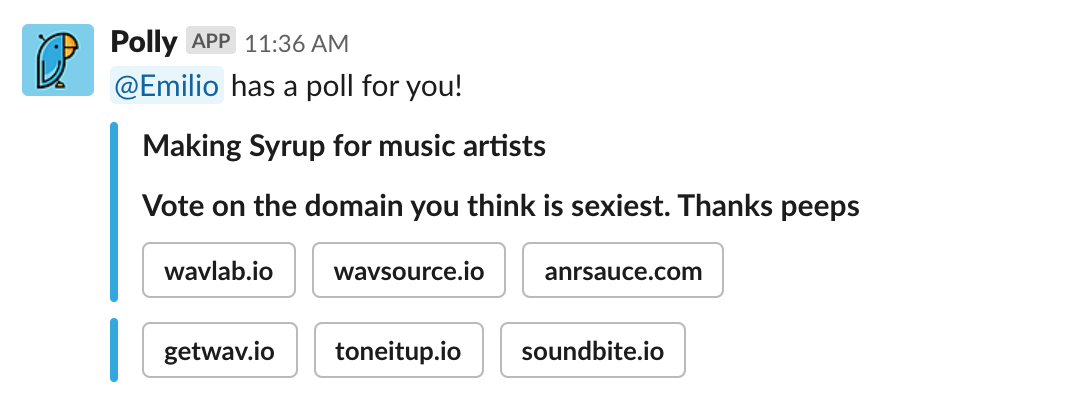 """Poll on """"Making Syrup for music artists"""""""